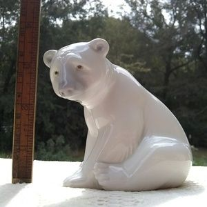 Polar Bear Figurine Lladro Made in Spain Beautiful